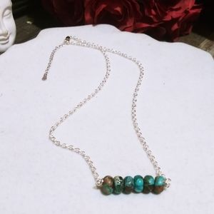 Nwt 925 Faceted Imperial Jasper bar Necklaces